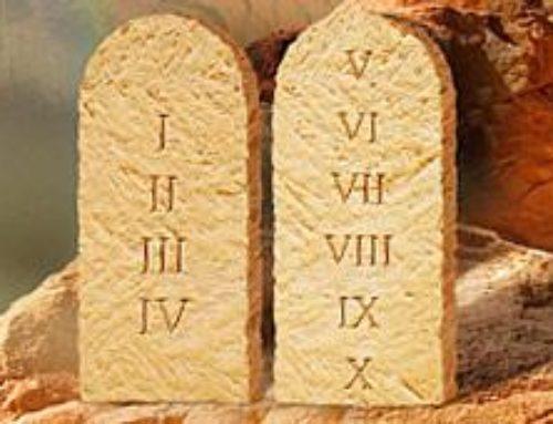 Tízparancsolat – 2Mózes 20,2-17 ; 5Mózes 5,6-21